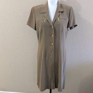 ELLEN TRACY Shirt Dress V Neck